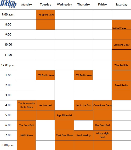 UTA Radio schedule